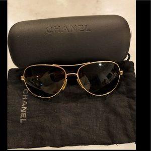 Authentic Chanel pilot sunglasses